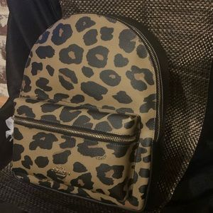 Coach Leopard backpack